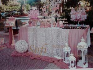 Τραπέζι ευχών με θέμα vintage πεταλούδες